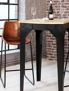 tabouret de bar industriel design m tal made in meubles. Black Bedroom Furniture Sets. Home Design Ideas