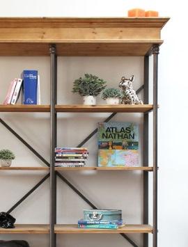 biblioth que industrielle biblioth que bois m tal made. Black Bedroom Furniture Sets. Home Design Ideas