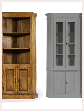 buffet d 39 angle bois massif made in meubles. Black Bedroom Furniture Sets. Home Design Ideas
