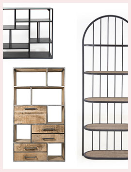 etagere bibliotheque bois