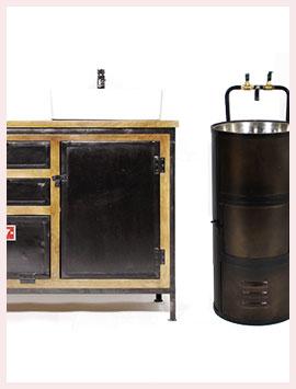 Meuble salle de bain industriel - Made In Meubles