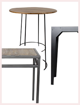 Table Mange Debout Bois Massif Ou Metal Made In Meubles