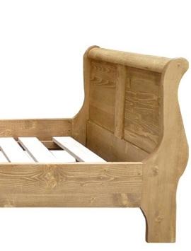 cadre lit bois massif 2 personnes 140 x 190 cm made in meubles. Black Bedroom Furniture Sets. Home Design Ideas