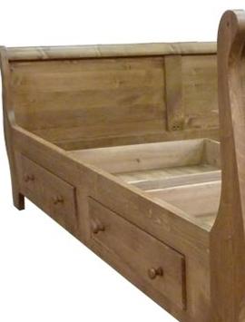 Cadre lit bois massif 2 personnes 160 x 200 cm made in meubles - Cadre de lit en bois massif ...