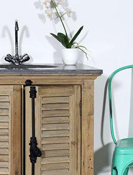 Meuble salle de bain ancien et rustique made in meubles - Meuble salle de bain ancien en bois ...