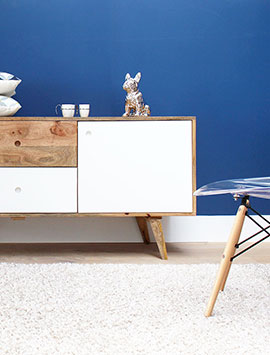 Meuble scandinave maison bois massif made in meubles - Meuble en pin massif scandinave ...