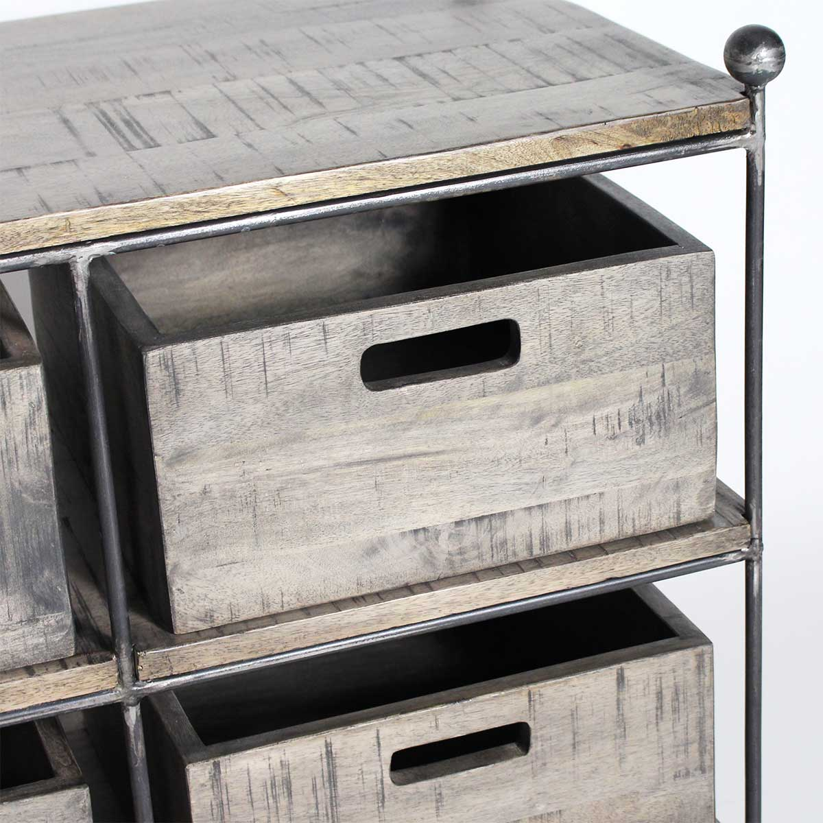 Console industrielle console m tal et bois made in meubles - Console metal industriel ...