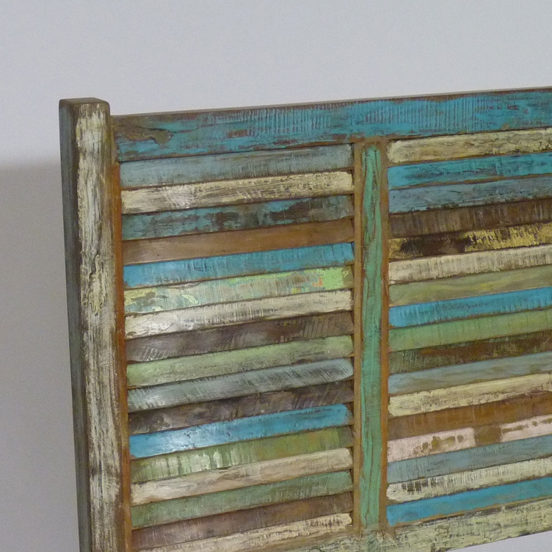 T te de lit en bois massif 90 cm pour lit 1 place made - Tete de lit vieux bois ...