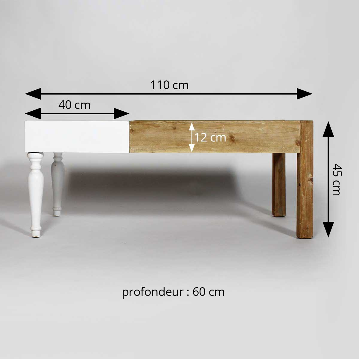 dimensions table basse contemporain