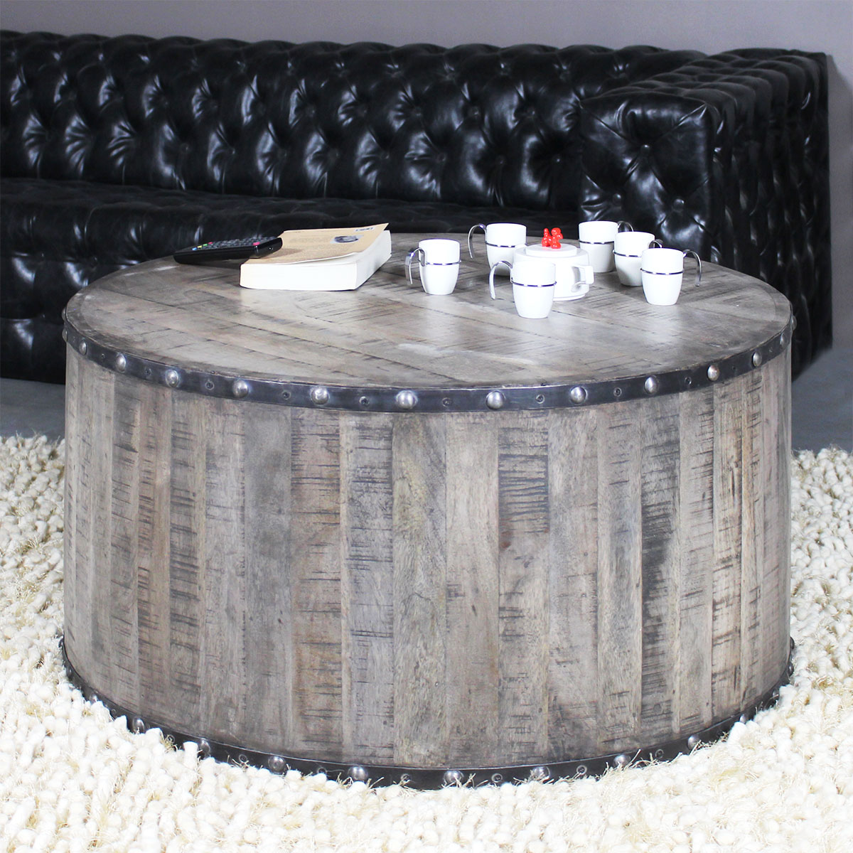table basse ronde circus ambiance