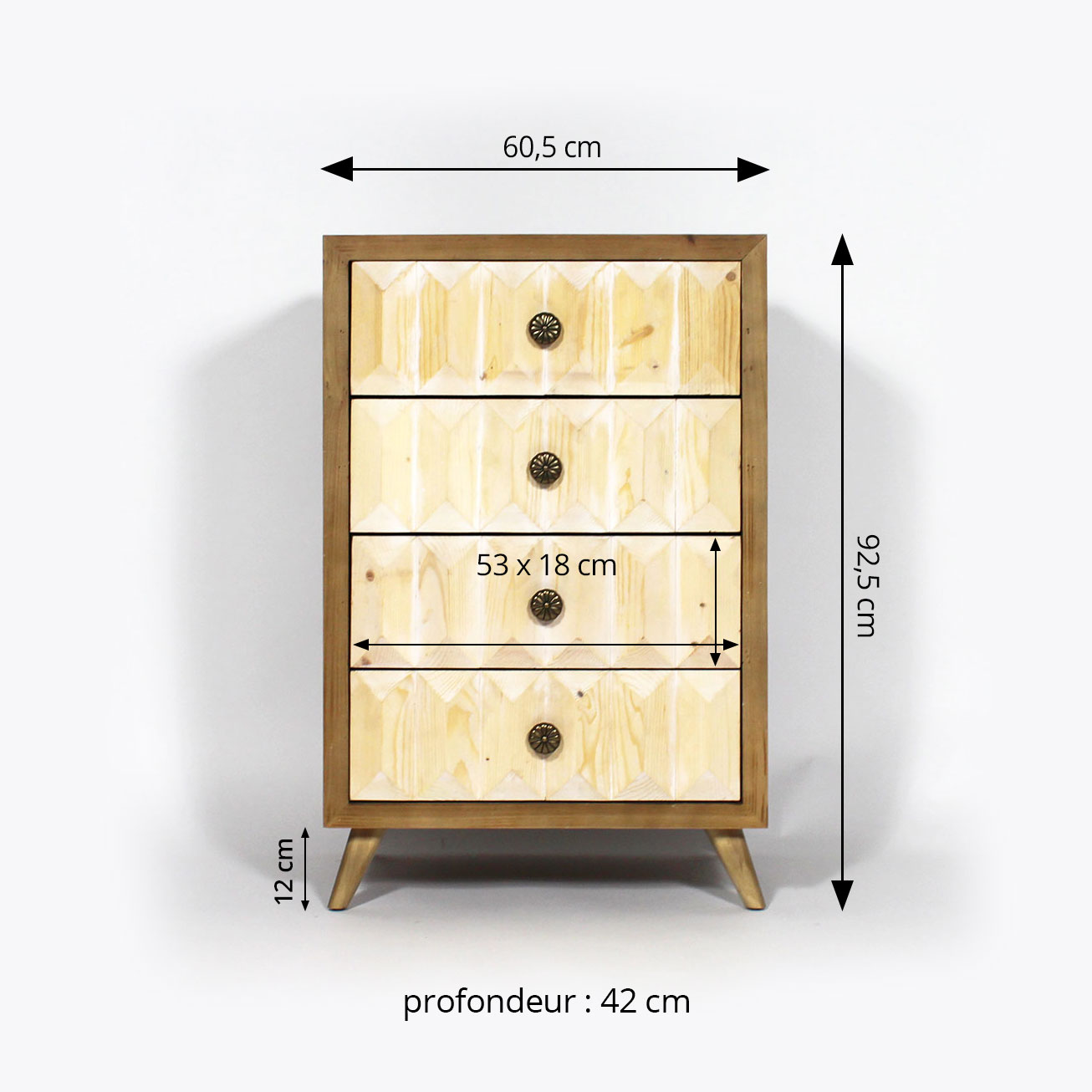 commode dimensions