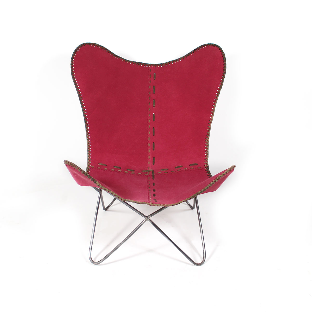 fauteuil butterfly ethnique rose