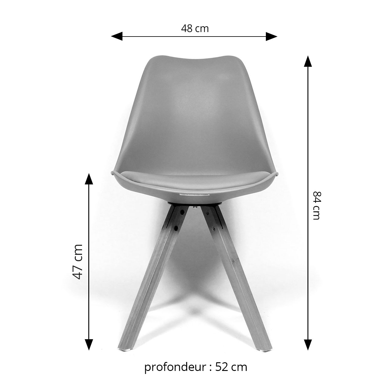 Chaise scandinave dimensions