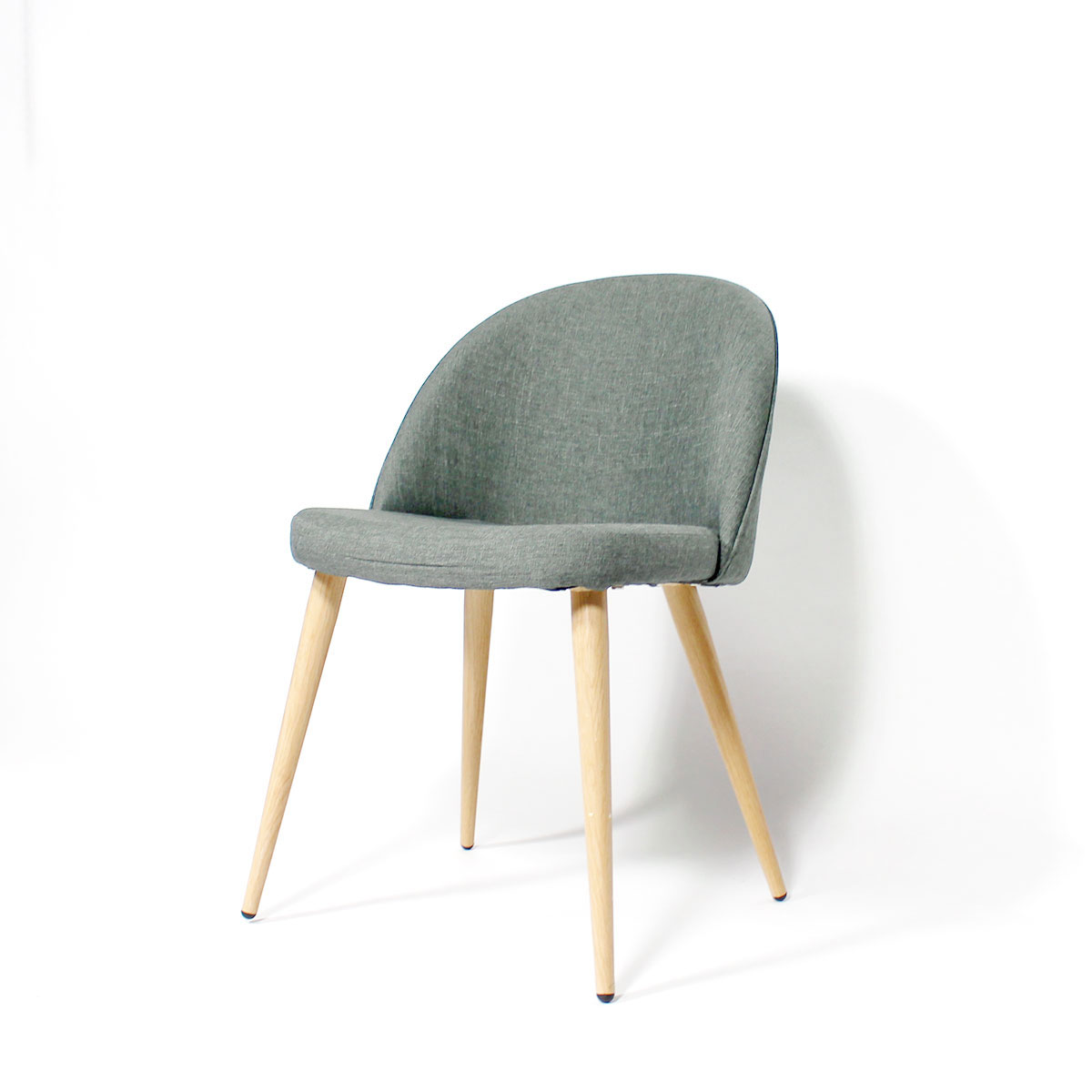 Chaise scandinave gris clair style fauteuil