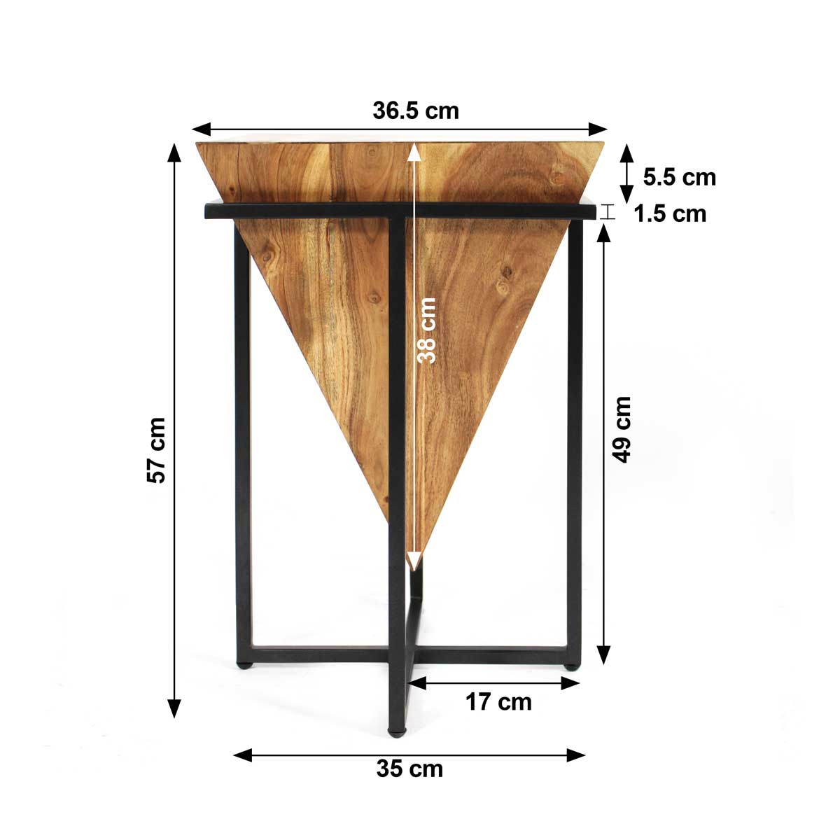 Table basse d'appoint design  dimensions