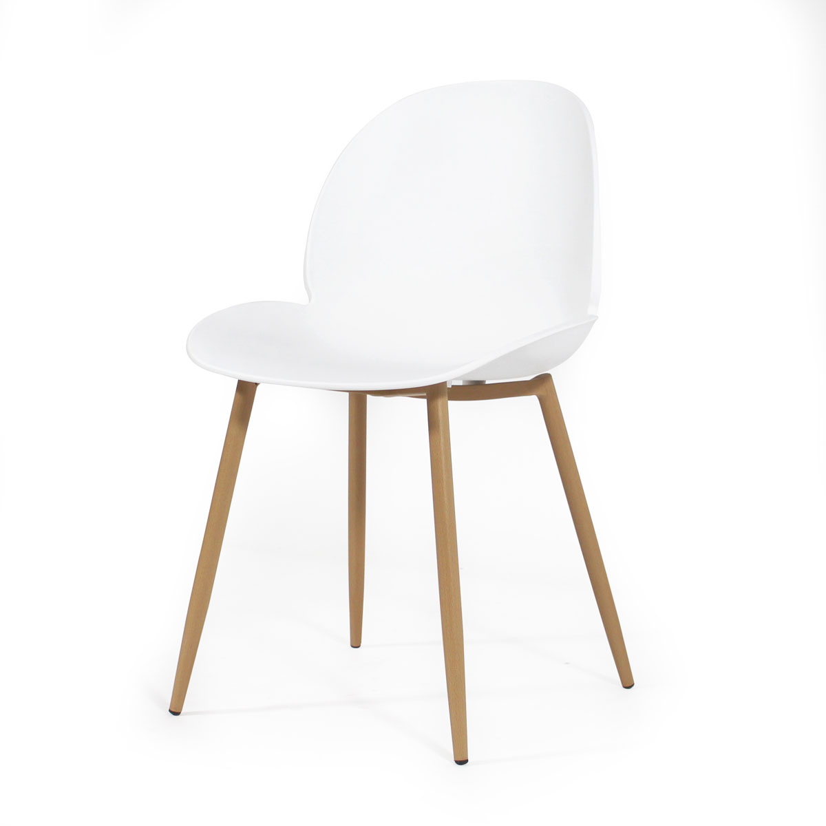 Chaise scandinave blanche tulipe