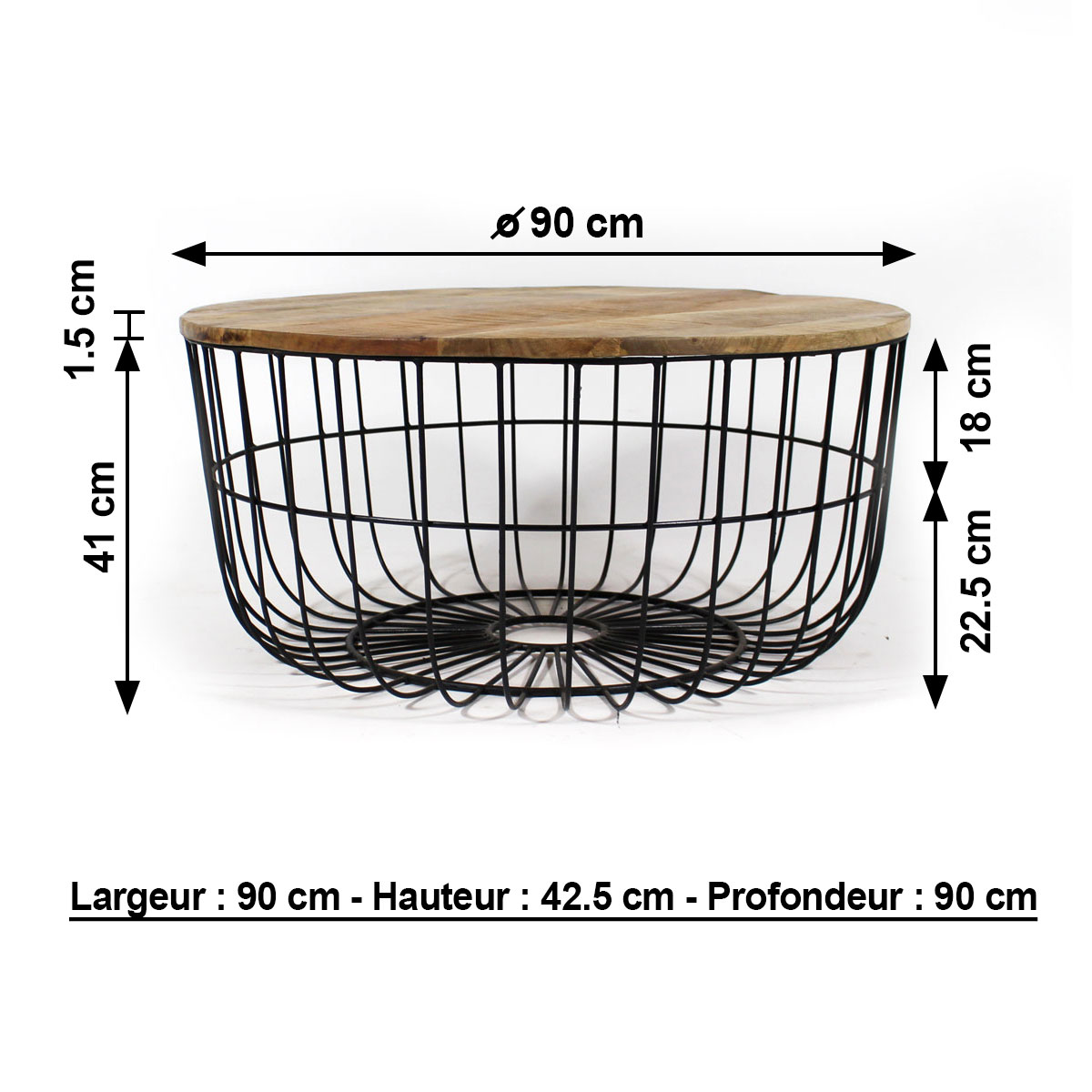 table basse industrielle dimensions