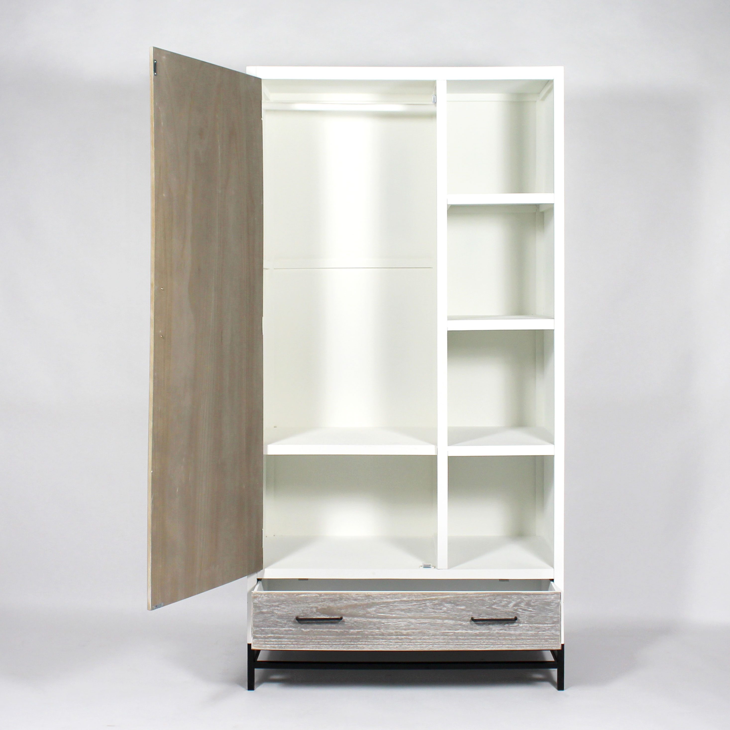 Armoire dressing grise