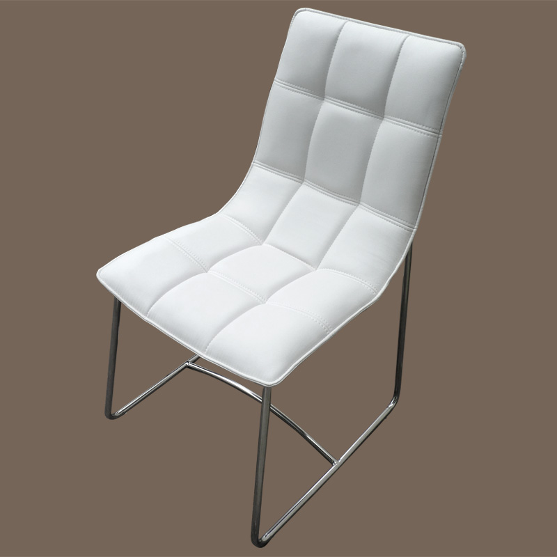 Chaise blanche design sur made-in-meubles.