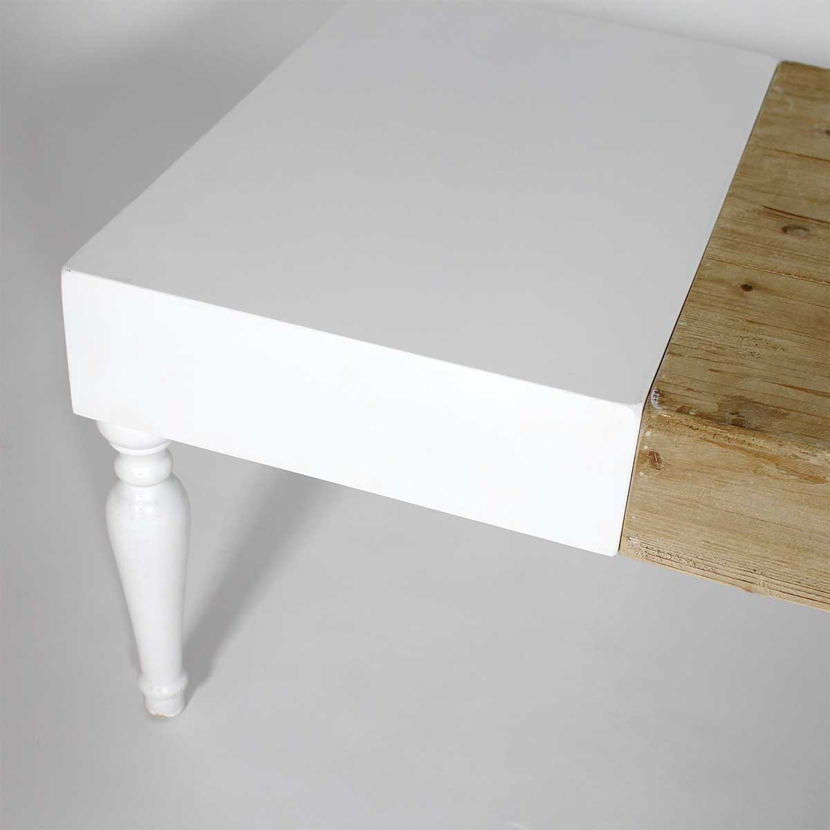 table basse originale blanc