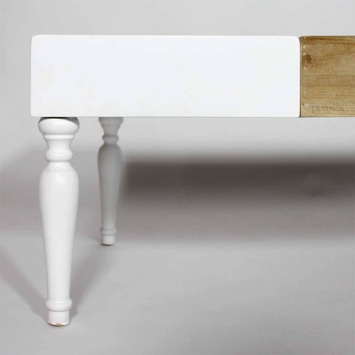 table basse pied baroque blanc