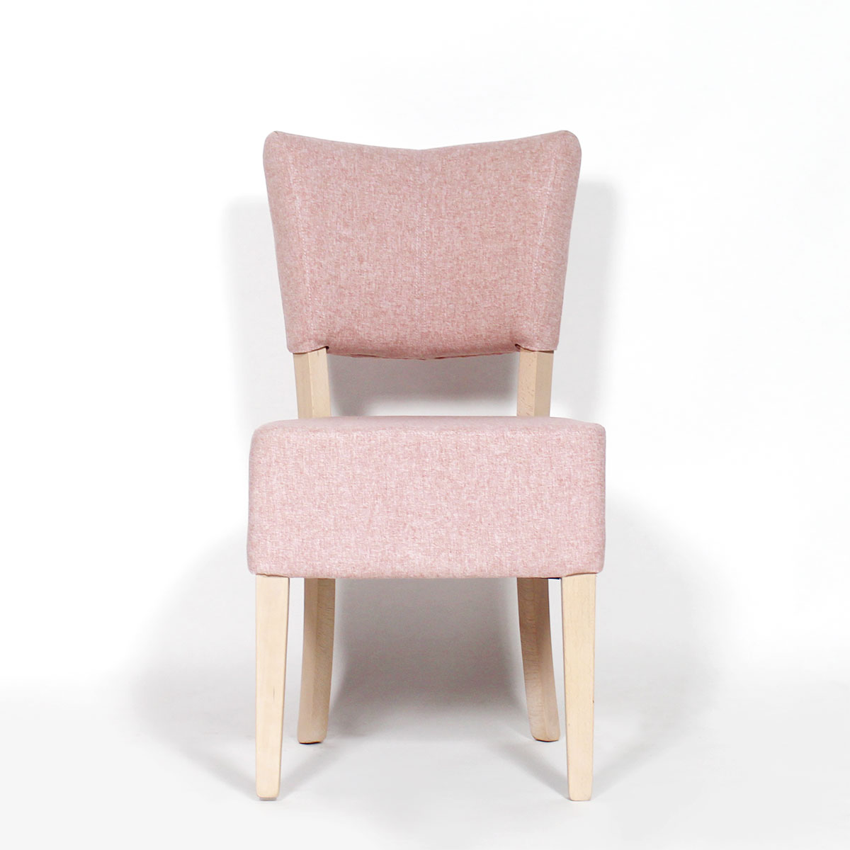 Chaise style fauteuil rose