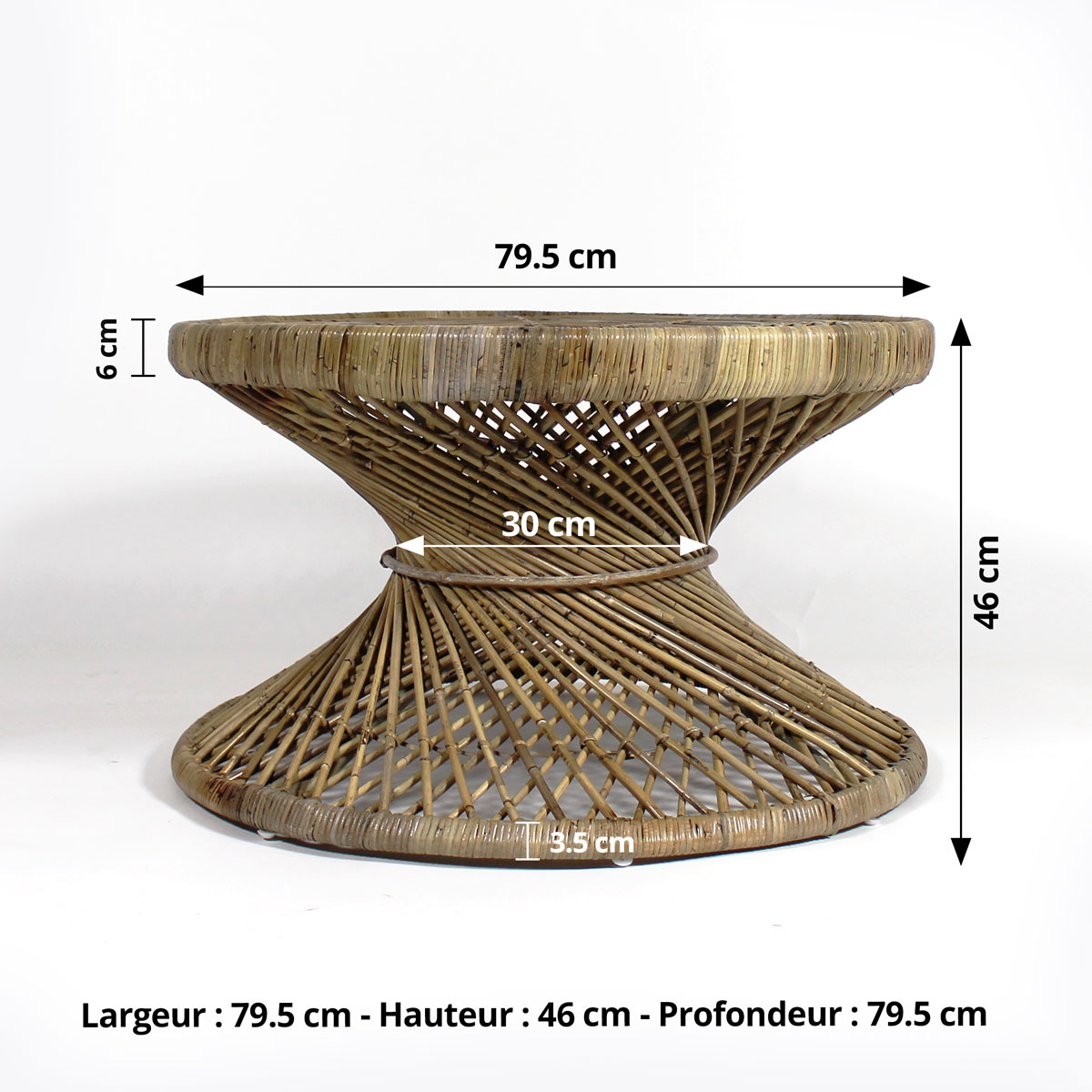 table basse ronde dimensions