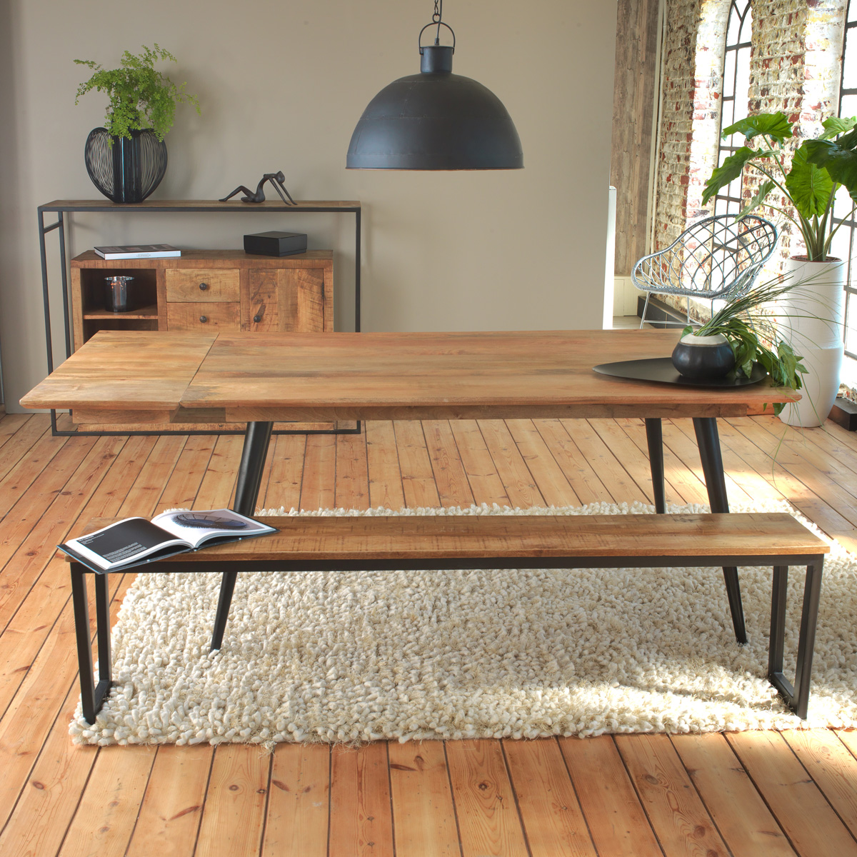 Made In Meubles Meuble Industriel Bois Massif Meuble Scandinave