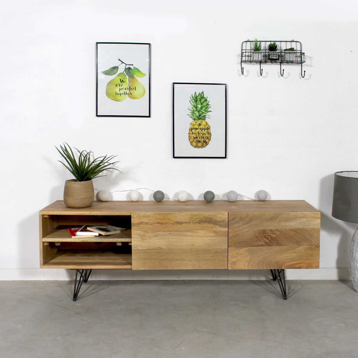 Made in meubles meuble industriel bois massif meuble scandinave - Meuble colore ...