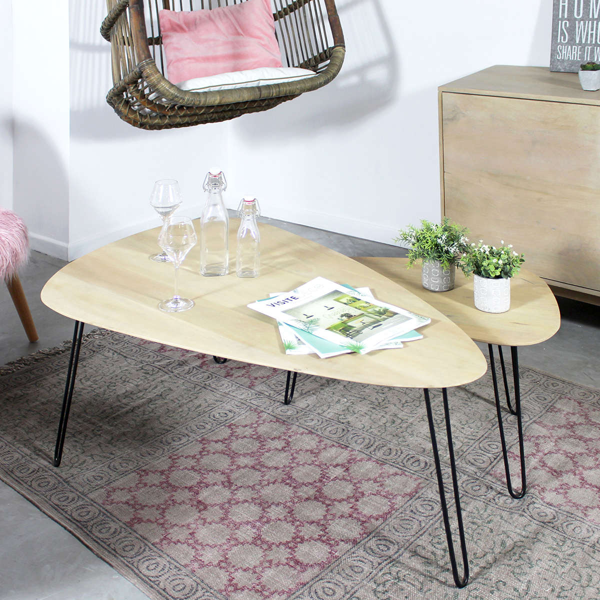 tables basses scandinaves empilables