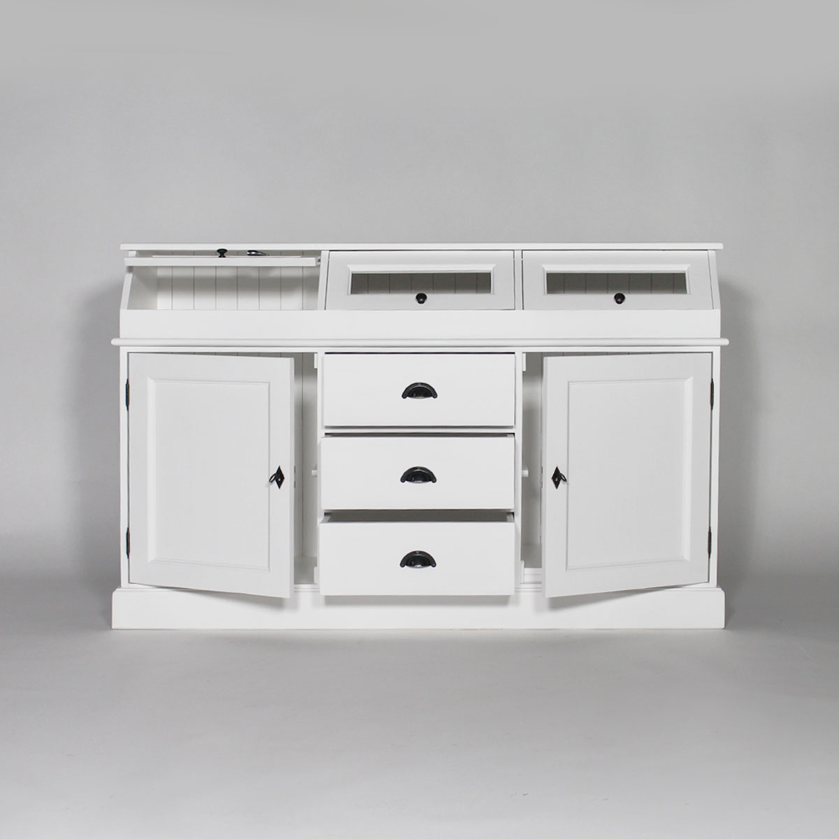 Meuble buffet bas a trappes en pin massif ebay for Meuble buffet bas