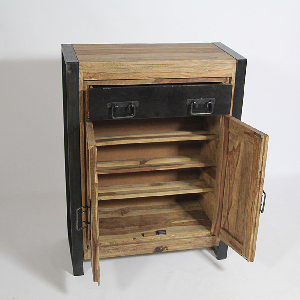 meuble a chaussures en manguier bois ebay. Black Bedroom Furniture Sets. Home Design Ideas