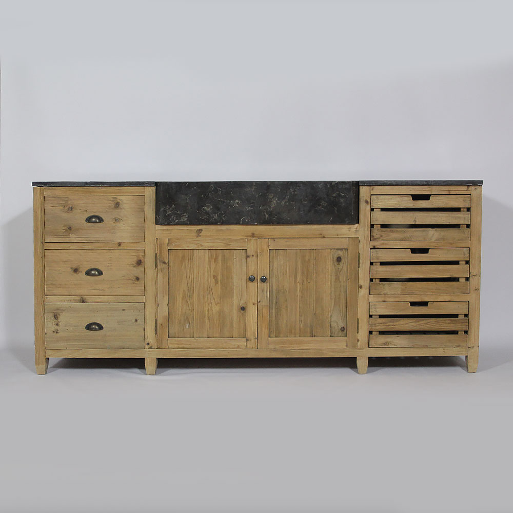 meuble cuisine bois massif bas et haut made in meubles. Black Bedroom Furniture Sets. Home Design Ideas