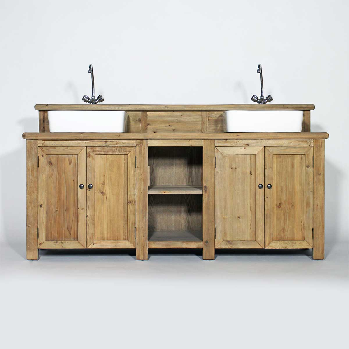 meuble bois recycl effet vieilli made in meubles. Black Bedroom Furniture Sets. Home Design Ideas