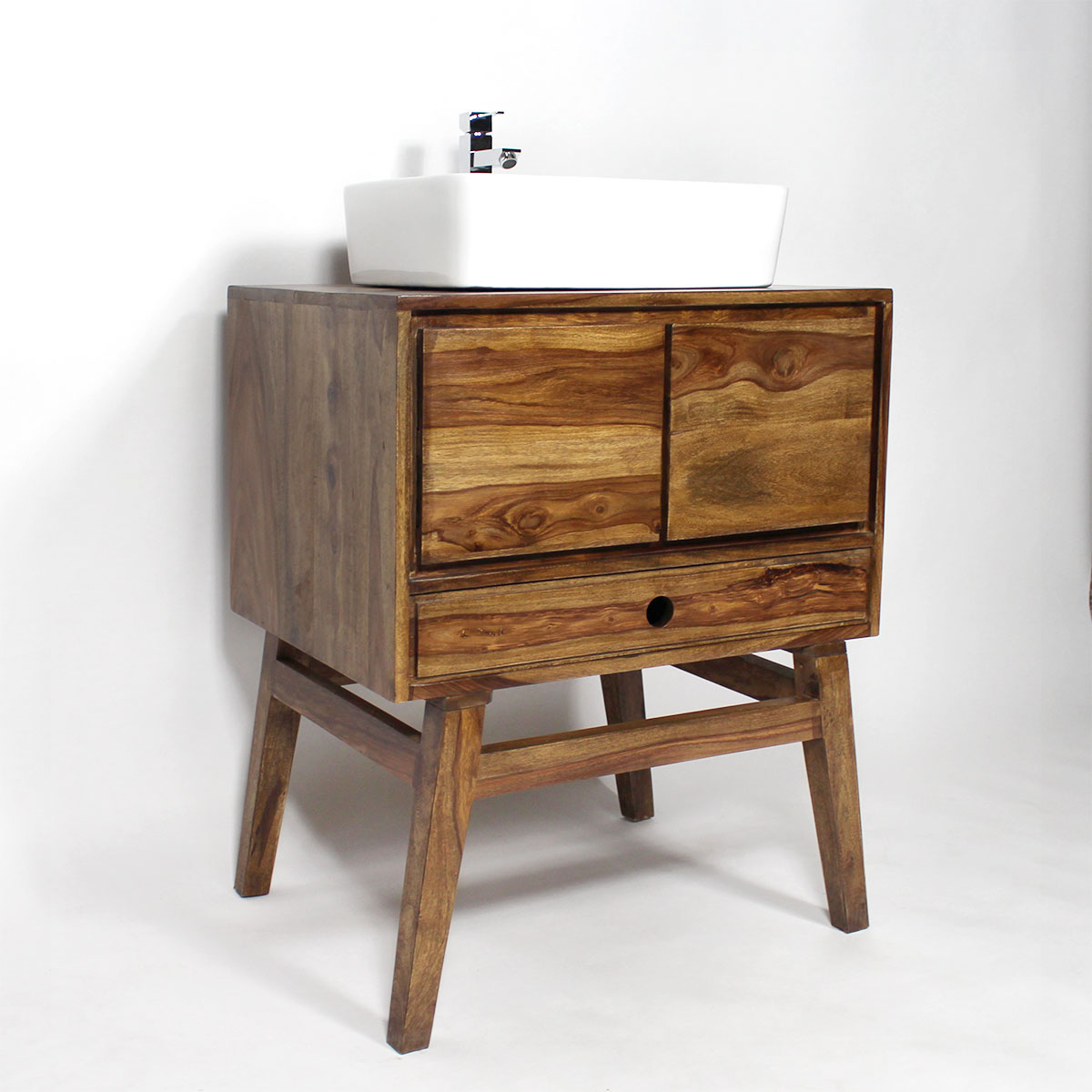 meuble salle de bain bois massif style scandinave 1 vasque made in meubles. Black Bedroom Furniture Sets. Home Design Ideas