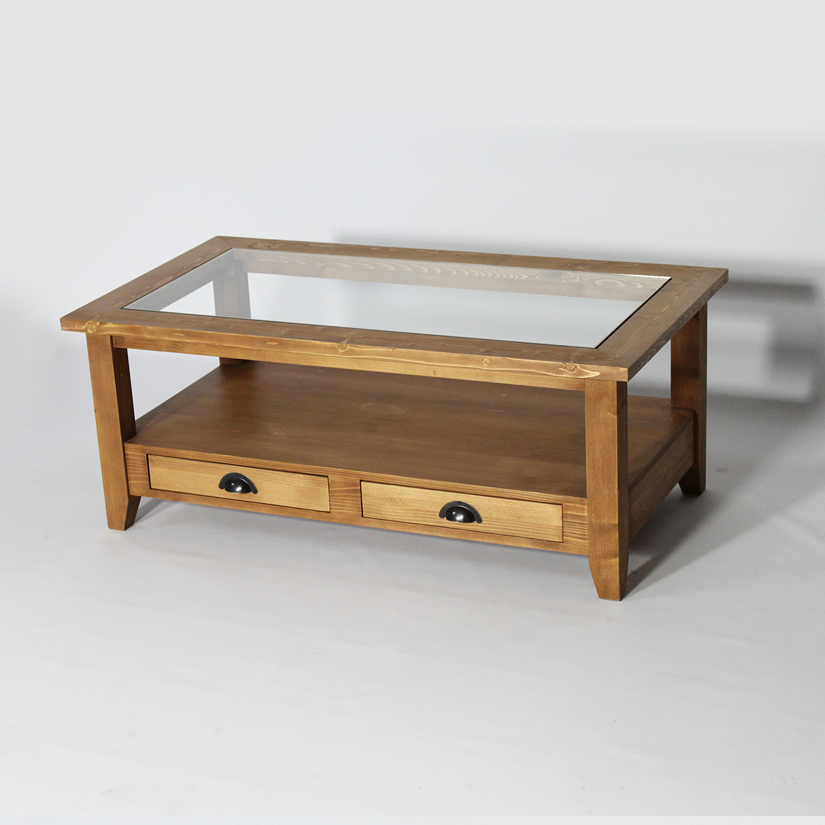 Table Basse Calvi EN PIN Massif Cire  eBay