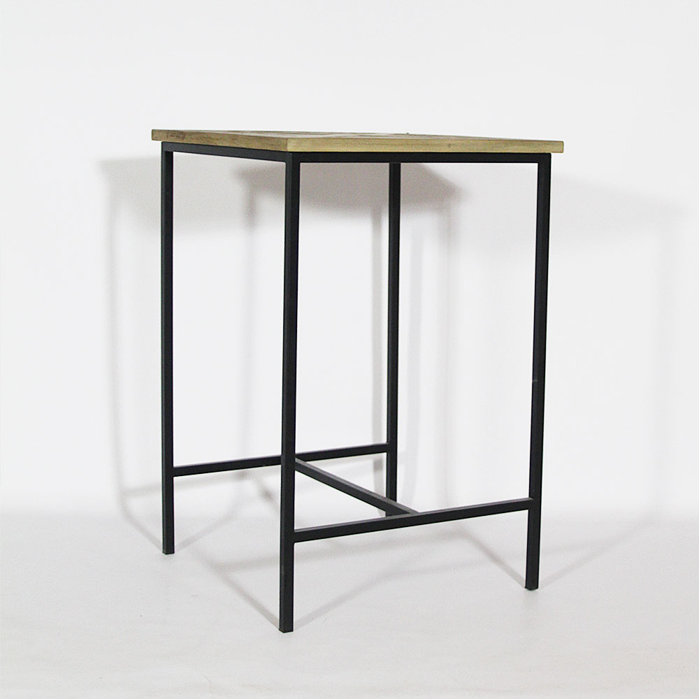 table haute mange debout bois et m tal made in meubles. Black Bedroom Furniture Sets. Home Design Ideas