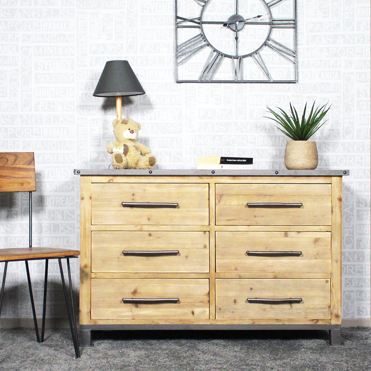 commode industrielle 6 tiroirs