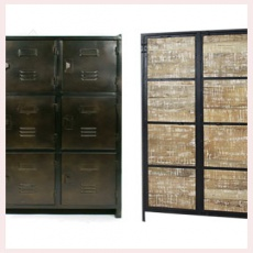 armoire ancienne en bois massif et style industriel made in meubles. Black Bedroom Furniture Sets. Home Design Ideas